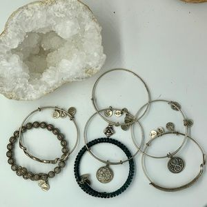 Bundle of 7 Alex & Ani 2013 bracelets